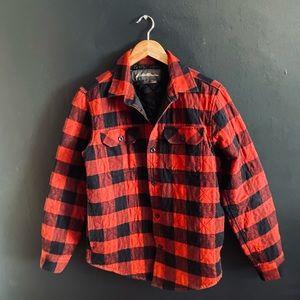 Eddie Bauer Buffalo Plaid Shacket Shirt Jacket